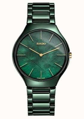 RADO Mulheres | thinline verdadeiro | cerâmica verde R27006912