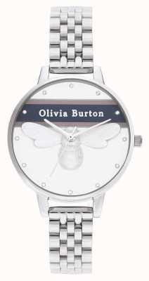 Olivia Burton | mulheres | abelha da sorte do time do colégio | pulseira de prata | OB16VS07