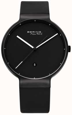 Bering | max rene | titânio | pulseira de borracha preta | 12639-822