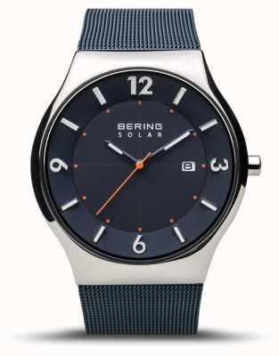 Bering | homem | solar fino | azul marinho | pulseira de malha | 14440-307