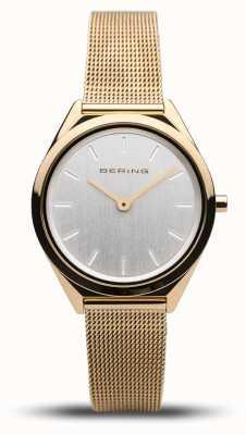 Bering | unissex | ultrafino | pulseira de malha de ouro | 17031-334