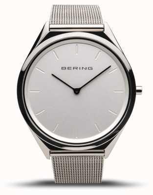 Bering | unissex | ultrafino | pulseira de malha de prata polida | 17039-000