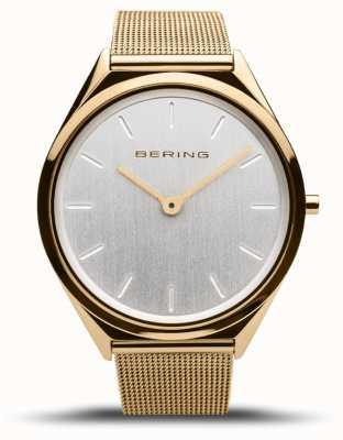Bering   unissex   ultrafino   pulseira de malha de ouro   17039-334