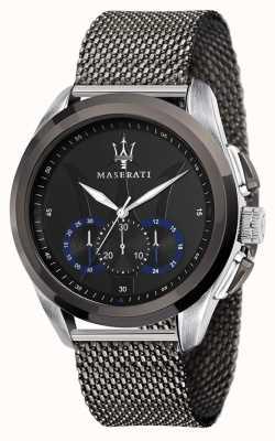 Maserati Traguardo | pulseira em malha de aço cinza | mostrador preto R8873612006