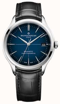Baume & Mercier Clifton baumático | mostrador azul cadran | cinta preta M0A10467