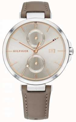 Tommy Hilfiger | mulheres | angela pulseira de couro marrom cinza | 1782180