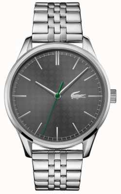 Lacoste Viena masculina | pulseira de aço inoxidável | mostrador cinza 2011073