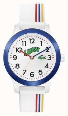 Lacoste 12,12 filhos | pulseira de silicone branco | mostrador branco 2030027