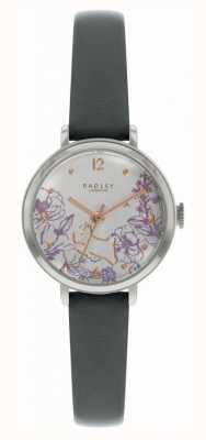 Radley | pulseira de couro preto para mulher | mostrador com estampa floral | RY2979