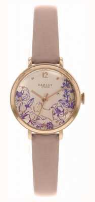 Radley | pulseira de couro nu para mulher | mostrador com estampa floral | RY2980