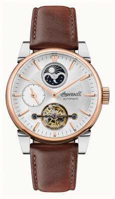 Ingersoll Homens | o balanço | automático | pulseira de couro marrom I07503