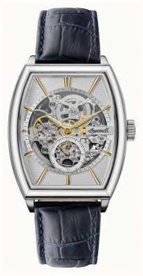 Ingersoll Homens | o produtor | automático | pulseira de couro azul I09701