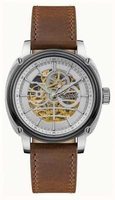 Ingersoll Homens | o diretor | automático | pulseira de couro marrom I09902