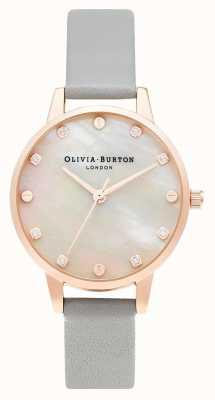 Olivia Burton | mostrador midi mop com detalhe de parafuso | ouro cinza e rosa | OB16SE12