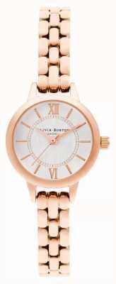 Olivia Burton | país das maravilhas | mini dial | pulseira em ouro rosa | OB16MC51