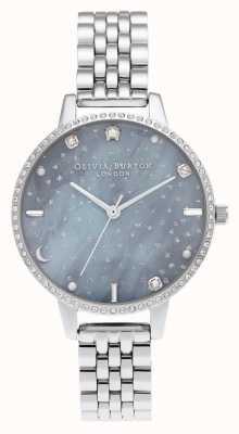 Olivia Burton Pulseira de prata com mostrador demi céu noturno OB16GD65