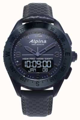 Alpinarx edição espacial | smartwatch | pulseira de couro azul AL-283SEN5NAQ6