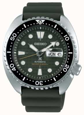 Seiko Prospex senhores mecânicos | pulseira de borracha cáqui | mostrador cáqui SRPE05K1