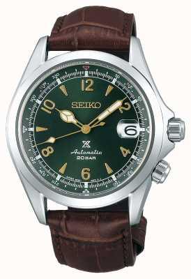 Seiko Prospex senhores alpinista mecânico | pulseira de couro marrom SPB121J1