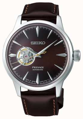 Seiko | senhoras mecânicas | couro de bezerro marrom | mostrador marrom SSA783J1