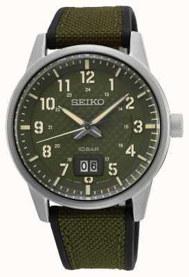 Seiko Conceitual senhores quartzo cáqui verde SUR323P1