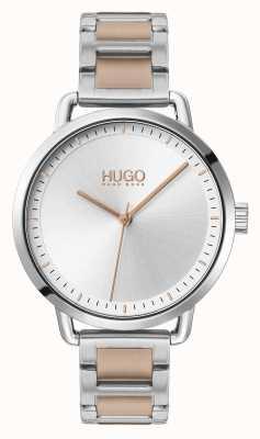 HUGO #mellow | pulseira de aço bicolor | mostrador prateado | 1540057
