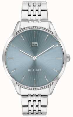 Tommy Hilfiger Cinza pulseira de aço inoxidável | mostrador azul | 1782210