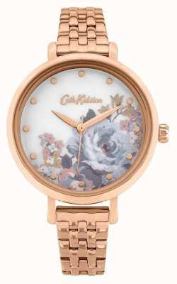 Cath Kidston | somerset para mulher | pulseira banhada a ouro rosa | mostrador floral CKL087RGM