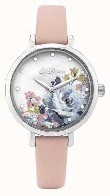 Cath Kidston | pulseira de couro rosa para mulher | madrepérola dial | CKL087P