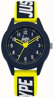 Hype | pulseira de silicone amarelo / azul | mostrador da marinha | HYK004YU