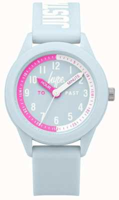 Hype   pulseira de silicone azul claro   mostrador azul claro   HYK010U