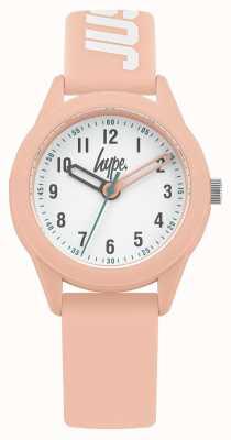 Hype | pulseira de silicone rosa | mostrador branco | HYK005P