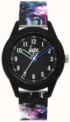 Hype | pulseira de silicone para galáxia de matéria escura | mostrador preto | HYK007BV