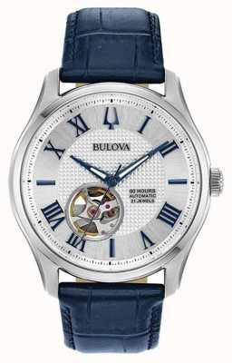 Bulova Homens | wilton | automático | pulseira de couro azul 96A206