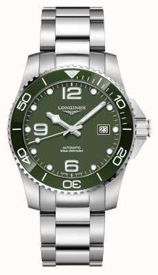 Longines Hydroconquest 41mm automatic | mostrador verde | aço inoxidável L37814066