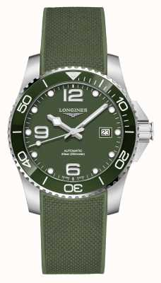 Longines Hydroconquest 41mm | mostrador verde | tira de borracha L37814069