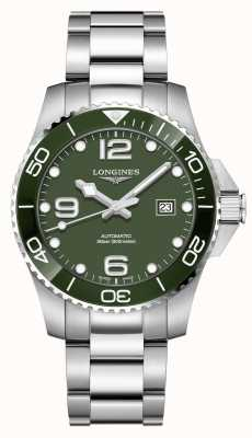 Longines Hydroconquest 43mm automático | mostrador verde | aço inoxidável L37824066