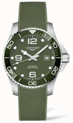Longines Hydroconquest 43mm | mostrador verde | tira de borracha L37824069