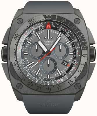 Aviator Mig-29 crono | pulseira de borracha cinza M.2.30.7.221.6