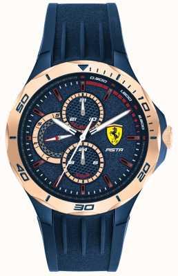 Scuderia Ferrari | pista para homem | pulseira de borracha azul | mostrador azul | 0830724