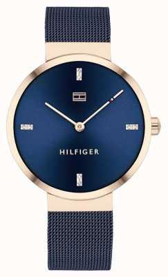Tommy Hilfiger Liberdade | pulseira de malha azul | mostrador azul | 1782219