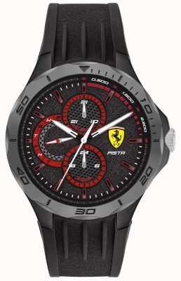 Scuderia Ferrari | pista para homem | pulseira de borracha preta | mostrador preto 0830725