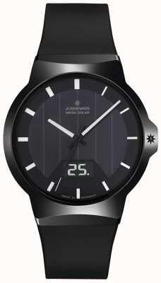 Junghans Force mega solar black pulseira de borracha 018/1000.00