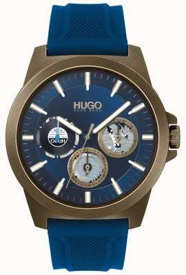 HUGO #twist | pulseira de borracha azul | mostrador azul 1530130