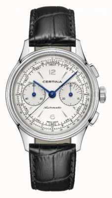 Certina Ds   cronógrafo   automático   pulseira de couro preta C0384621603700