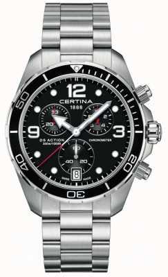 Certina Ds action chrono | cronômetro | pulseira de aço inoxidável C0324341105700