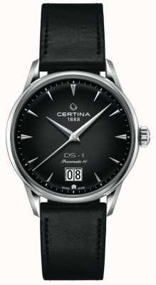 Certina Ds-1 grande encontro | powermatic 80 | pulseira de couro preto C0294261605100