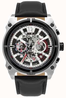 Police Antrim masculino | cronógrafo | pulseira de couro preto 16020JSTB/04
