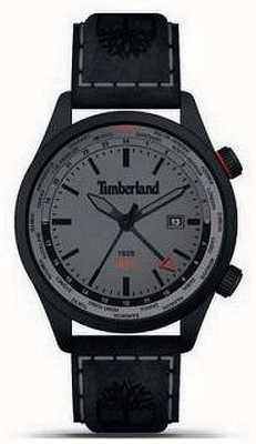 Timberland Homens | malden | gmt pulseira de couro preto | mostrador cinza 15942JSB/13