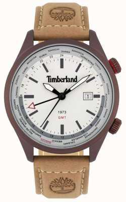Timberland Homens | malden | gmt pulseira de couro marrom | mostrador creme 15942JSBN/13